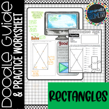 Properties of Rectangles Doodle Guide & Practice Worksheet; Quadrilaterals