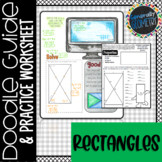 Properties of Rectangles Doodle Guide & Practice Worksheet