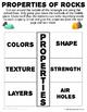 Properties of Rocks Interactive Notebook