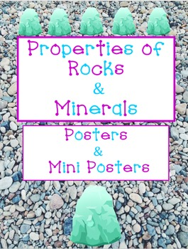 Properties of Rocks & Minerals Cheat Sheet Printables
