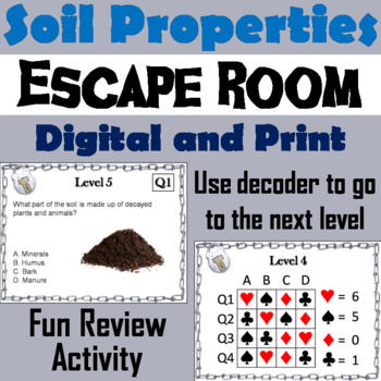 Properties of Soil Activity: Escape Room - Science