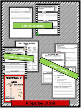 Properties of Soil:Complete Lesson Set Bundle (TEKS & NGSS)
