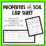 Properties of Soil Lab Sheet