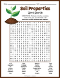 PROPERTIES OF SOIL Word Search Puzzle Worksheet Activity