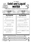 Properties of Solid and Liquid Water