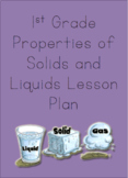 Properties of Solids and Liquids Lesson Plan