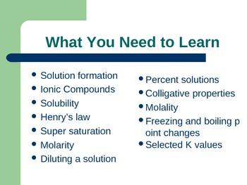 Properties of Solutions (AP Chemistry)