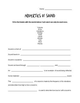 Properties of Sound Quiz