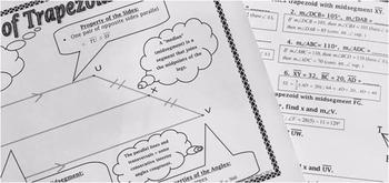 Quadrilaterals - Properties of Special Quads Notes, Assignment & Quiz Bundle