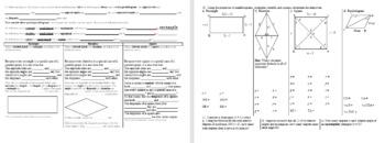 Properties of Special Quadrilaterals Parallelograms Rectangles Rhombi SquaresF13