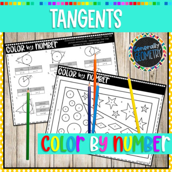 Properties of Tangents Color by Number; Geometry, Circles