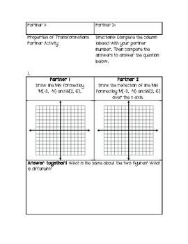 Properties of Transformations Partner Activity