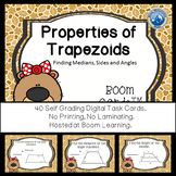 Properties of Trapezoids Boom Cards--Digital Task Cards