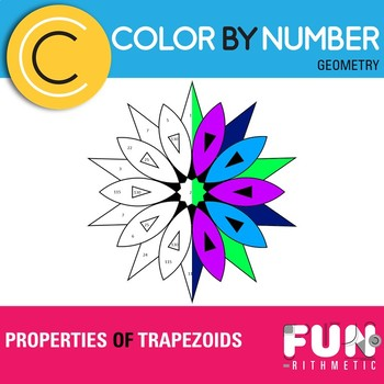 Properties of Trapezoids Color by Number