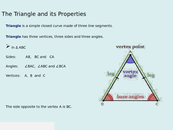 Properties of Triangle (Presentation and Handout)