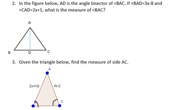 Properties of Triangles Quiz