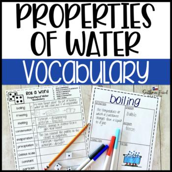 Properties of Water Fun Interactive Vocabulary Dice Activity