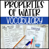 Properties of Water Fun Interactive Vocabulary Dice Activity EDITABLE
