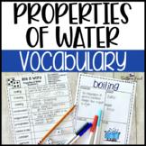 Properties of Water Fun Interactive Vocabulary Dice Activity EDITABLE