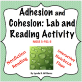 Cohesion and Adhesion Lab and Reading Activity NGSS 5-PS1-1 and 5-PS1-3
