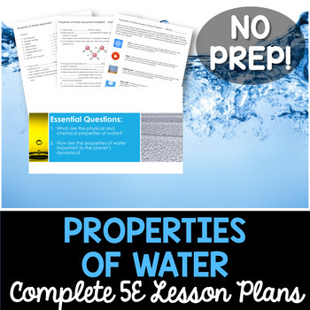 Properties of Water Complete 5E Lesson Plan