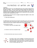 Properties of Water Lab Activity