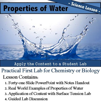 Properties of Water Lesson and Lab