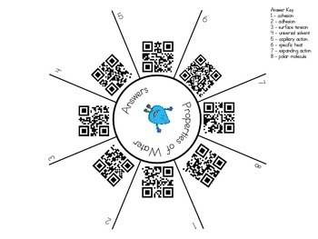 Properties of Water Match and Clip QR Code