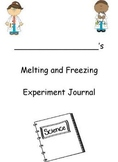 Properties of Water - Melting and Freezing Science Experiment Journal