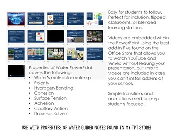 Updated! Fully Editable! Properties of Water Powerpoint