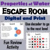 Properties of Water Activity: Escape Room - Science