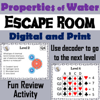 Properties of Water Activity: Escape Room - Science