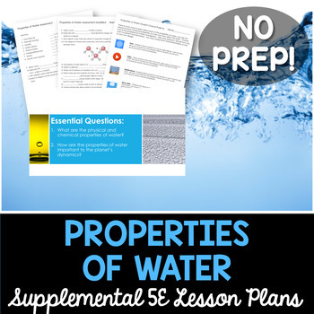 Properties of Water - Supplemental Lesson - No Lab