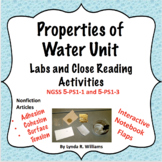 Properties of Water Unit With 5 E Lessons NGSS 5-PS1-1 and  5-PS1-3