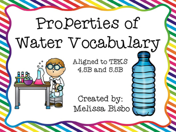 Properties of Water Vocabulary Posters and Activities