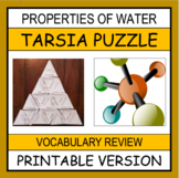 Properties of Water Vocabulary Puzzle (Tarsia Puzzle)