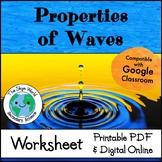 Properties of Waves - Worksheet