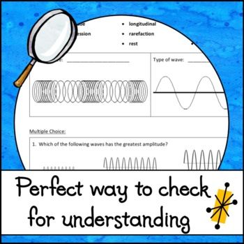Properties of Waves Worksheet by The Skye World Science | TpT