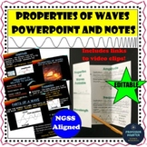 Properties of Waves PowerPoint and Interactive Notebook NGSS 4-PS4-1 MS-PS4-1