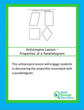 Activinspire Lesson - Properties of a Parallelogram
