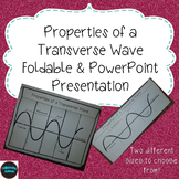 Properties of a Transverse Wave Foldable & PowerPoint Pres