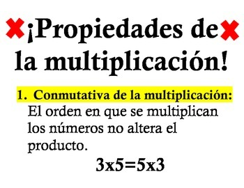 Properties of addition and multiplication (Spanish)