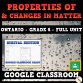 Properties of and Changes in Matter - Ontario Grade 5 Science - GOOGLE CLASSROOM