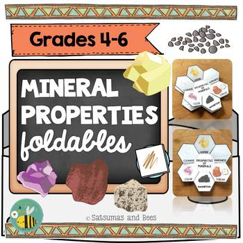 Properties of minerals-Interactive Science Notebook foldables
