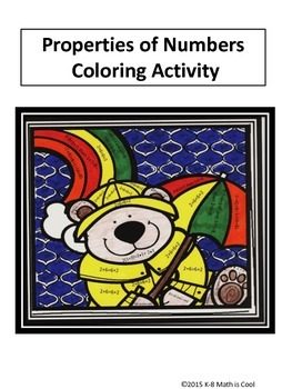 Properties of numbers coloring activity