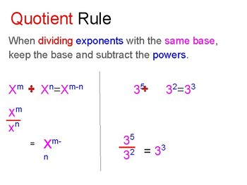 Properties with Exponents INB