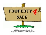 Property 4 Sale - Game to Identify the Properties of Addition and Multiplication