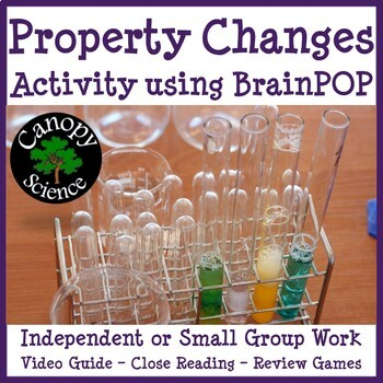 Property Changes Brain Pop (Physical & Chemical Changes)