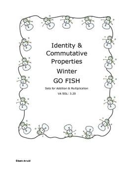 Identity & Commutative Property GO FISH Winter Edition