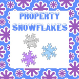 Property Snowflakes - Commutative, Associative, Distributive Property Practice